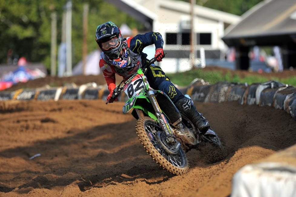 Garrett Marchbanks dominated the Schoolboy 2 (12-17) B/C class after grabbing the Bell Helmets Holeshot Award.