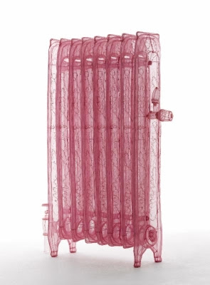 Do Ho Suh, Specimen Series: Corridor, Radiator, 348 West 22nd Street, APT. New York, NY 10011, 2013. Polyester fabric and stainless steel wire. 48 3/5 x 37 1/3 x 17 1/3 inches. Edition of 3. Courtesy the artist and Lehmann Maupin, New York and Hong Kong.