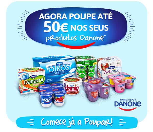 Agora poupe até 50€ nos seus produtos Danone