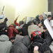 Late Tuesday protesters stormed the main police station in Lviv, in western Ukraine.