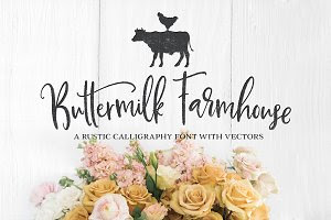 NEW! Buttermilk Farmhouse Script