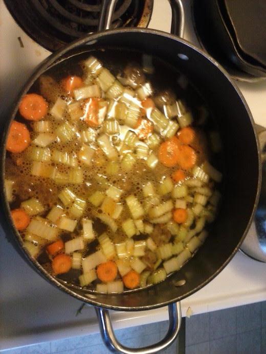 Saute vegetables.