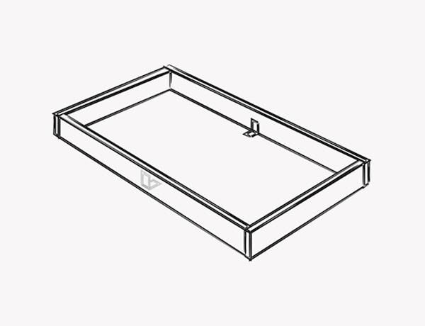 Illustration montrant comment construire le socle de l'îlot de cuisine.