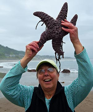 Coleen and starfish