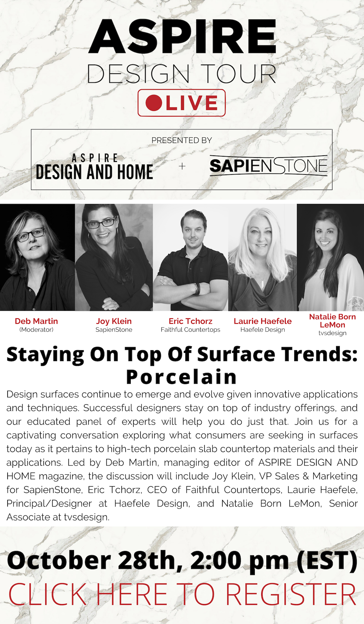 ASPIRE DESIGN AND HOME:Stay On Top Of Surface Trends With These Porcelain Experts