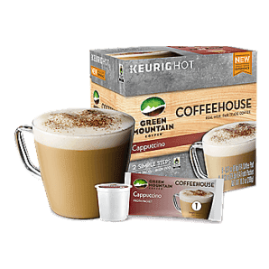Green Mountain Coffeehouse Cappuccino Keurig Kcups