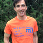 Mayor Noam Bramson in orange for Gun Violence Awareness Month
