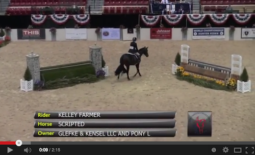 Watch Kelley Farmer and Scripted's winning round!