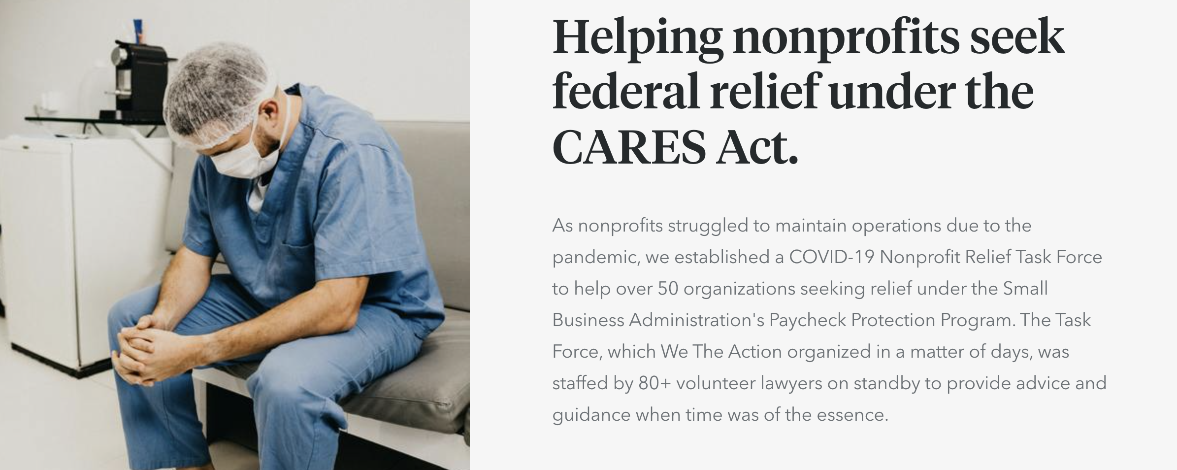 Helping nonprofit with pro bono legal help when time is of the essence