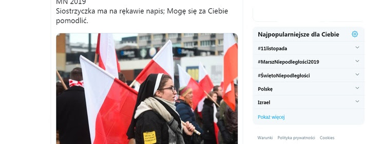 Zakonnica na Marszu Niepodległości. Niesamowite świadectwo! Takie rzeczy tylko w Polsce!