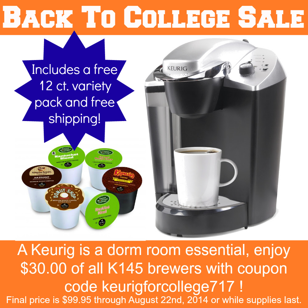 Back to college Keurig brewer.