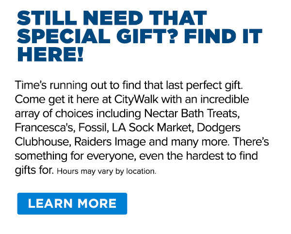Time's running out to find that last perfect gift.