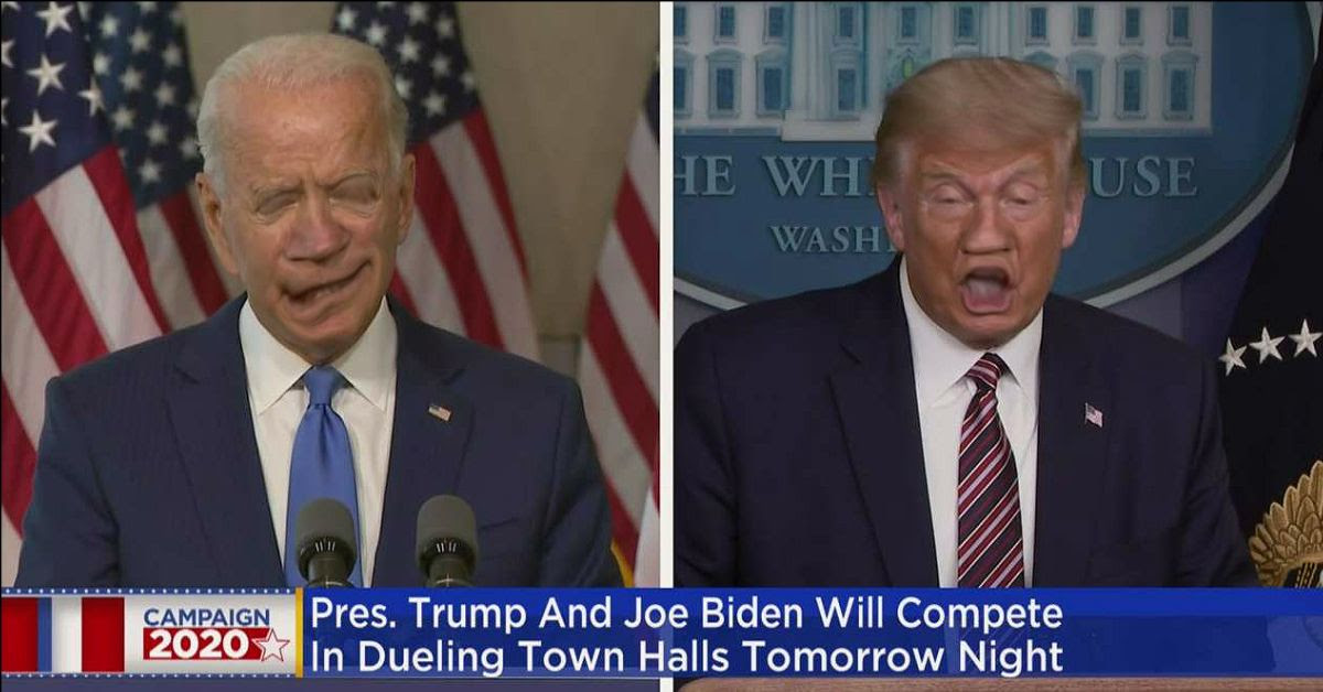 Piture of Biden and Trump