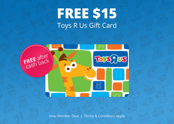 FREE $15 Toys R Us gift card..