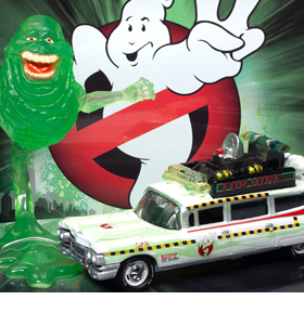 Ghostbusters II Silver Screen Machines 1/64 Scale Slimed Ecto-1A 1959 Cadillac