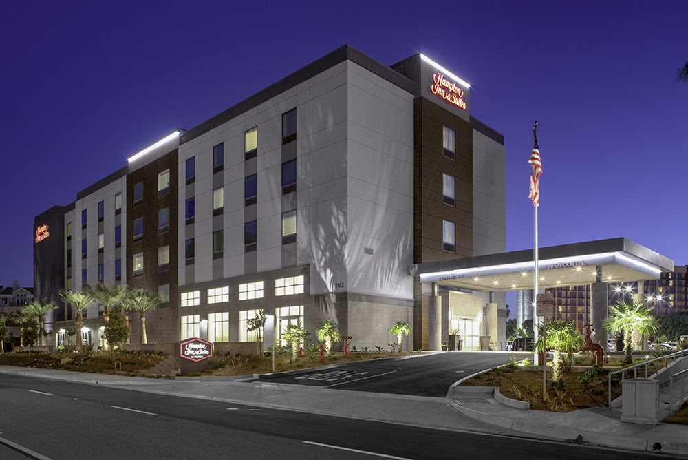 Hampton Inn & Suites in Irvine, California, built in 2018, is among dozens of new hotels developed in Orange County since last year. (JLL)