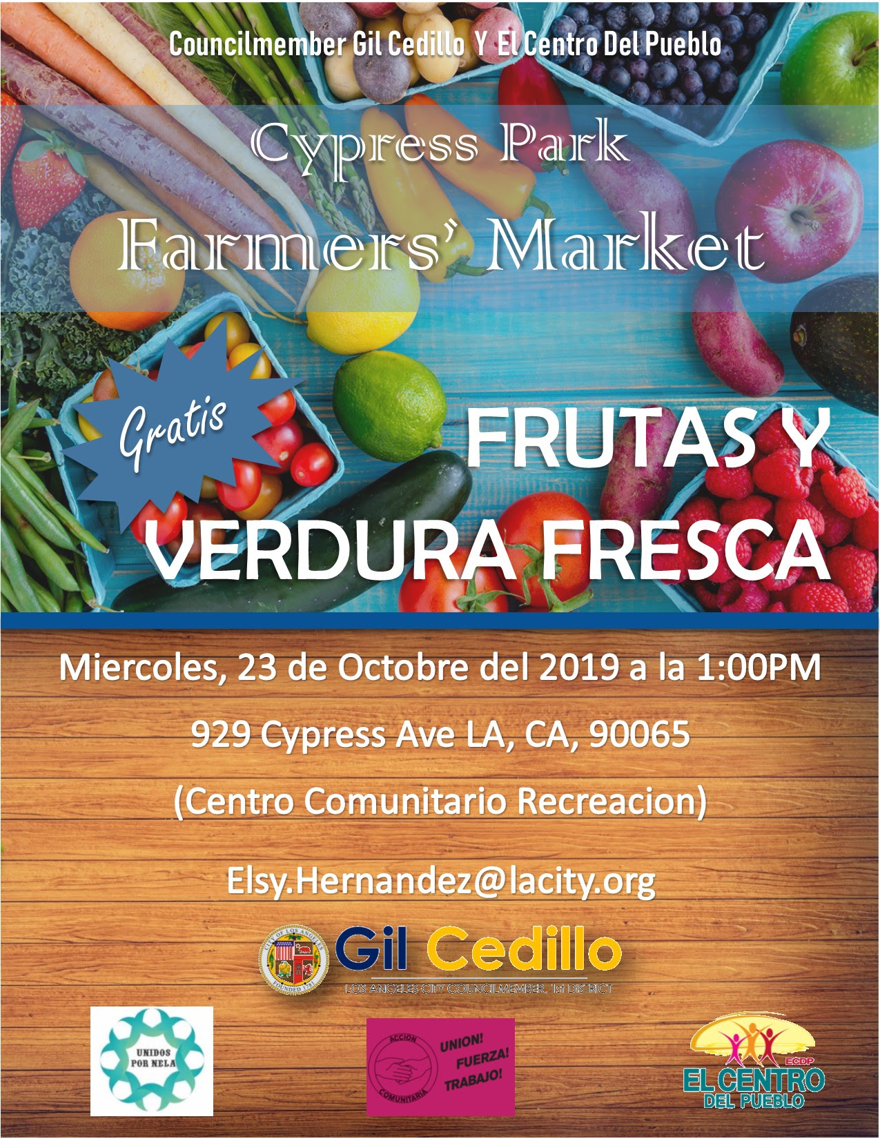 Cypress Park Farmers Market SPANISH