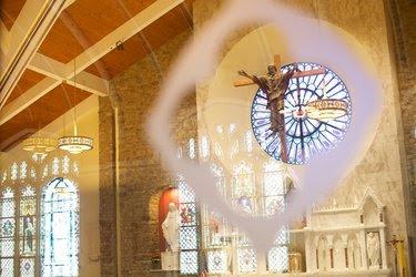 The altar at St. Patrick Church, a Roman Catholic parish in Malvern, Pa.