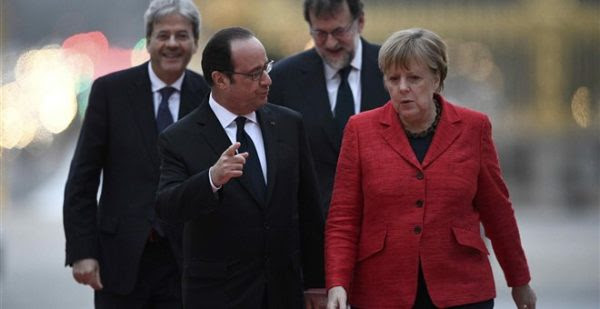 Υπέρ μίας Ευρώπης πολλών ταχυτήτων Μέρκελ, Ολάντ, Τζεντιλόνι και Ραχόι