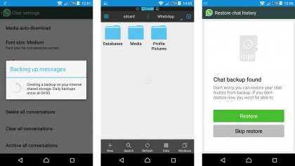 Switch phones without losing chats
