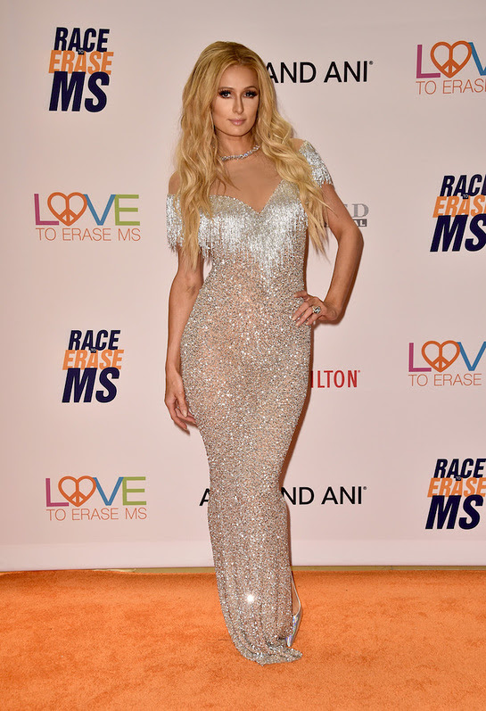 Paris Hilton Attends 24th Annual Race To Erase MS Gala