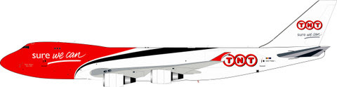 IF744TNT01   InFlight200 1:200   Boeing 747-400 TNT OO-THA (with stand)    is due: February 2020