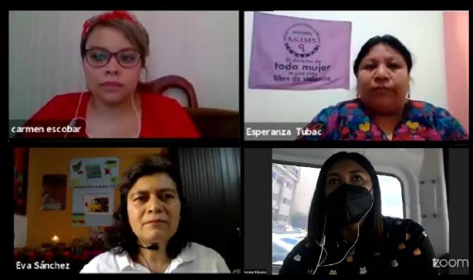 Mujeres exponen las estrategias para defender su derecho de asociación y reunión
