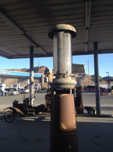 Old gas station and pump