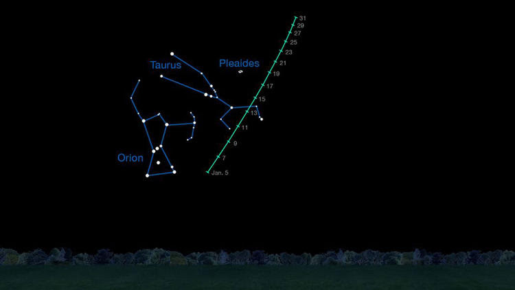 Finder chart for viewing comet Lovejoy