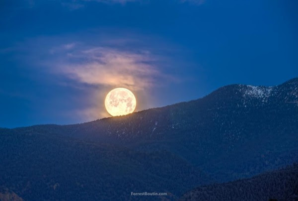 Full moon over Rillings Hills near Colorado Springs, Colorado by Forrest Boutin Photography.