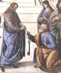 Święty Piotr otrzymuje klucze Królestwa