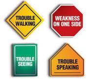 Diagram with Stroke Symptoms