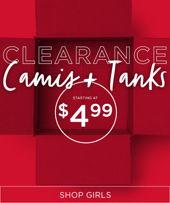 Clearance Camis + Tanks Shop Girls
