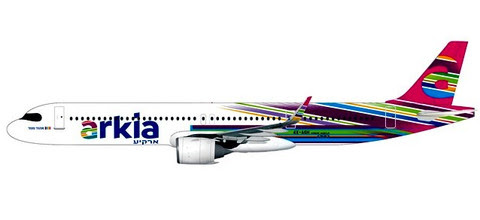 Herpa Snap-Fit (Wooster) 1:200 | Airbus A321neo Arkia 4X-AGH,'Fuchsia' | is due: January / February 2020