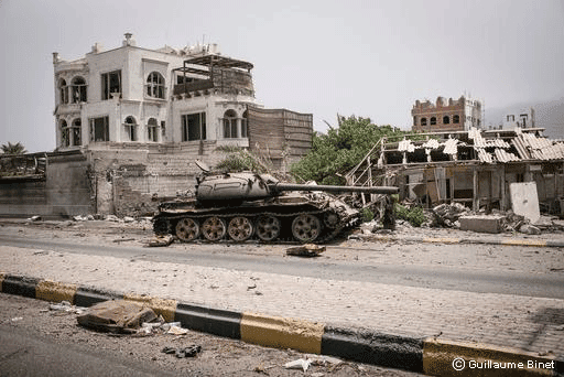 Devastación en Aden, Yemen