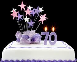 Image result for free images for a 70th birthday cake