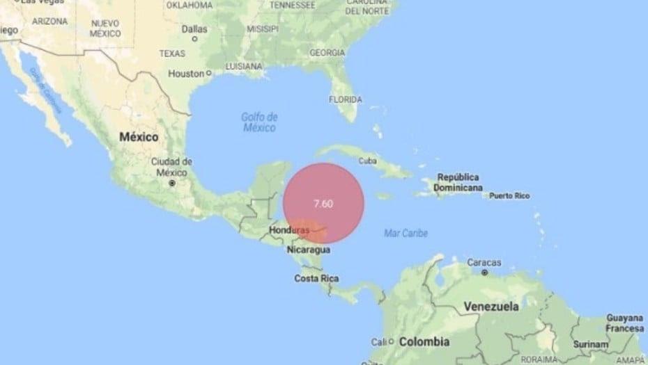 TERREMOTO 7,6 SACUDE HONDURAS Y CARIBE