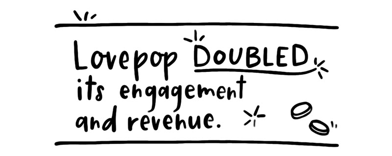 Lovepop doubled its engagement