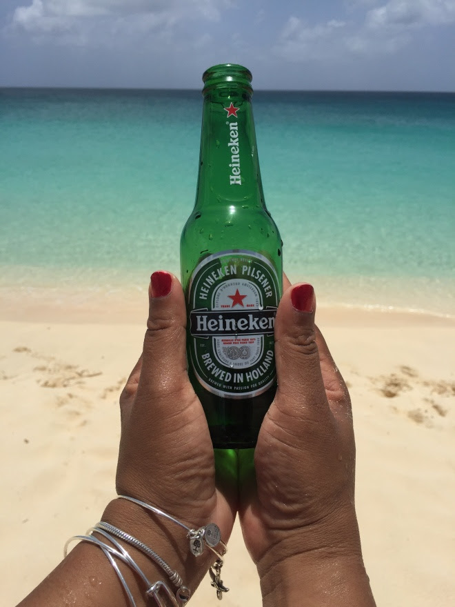 Cold Heineken on the beach