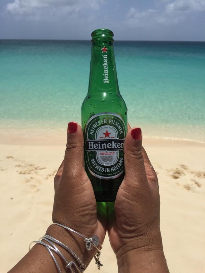Cold Heineken on the beach