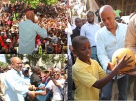 Le Président Martelly en tournée à Pilate, Port-Margot et Borgne