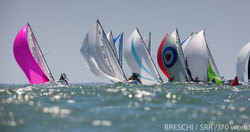 J/70s sailing Worlds off La Rochelle, France
