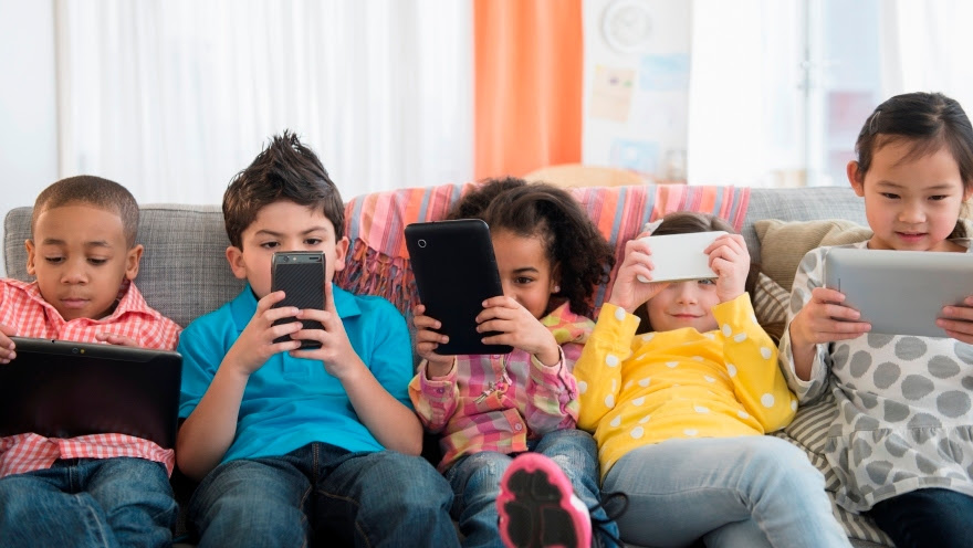 Kids Looking at Devices