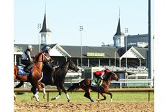 Authentic works Sept. 19 at Churchill Downs
