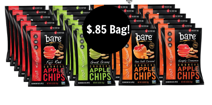 Bare Natural Apple Chips 85¢.
