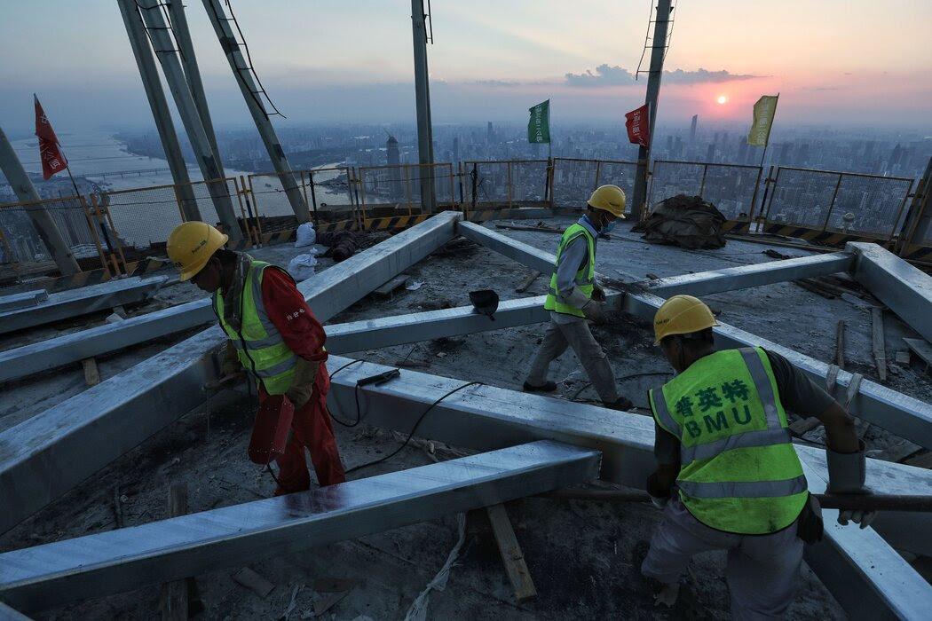 上月,武汉的一处建筑工地。