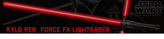 Star Wars Episode VII Black Series Force FX Deluxe Lightsaber - Kylo Ren