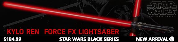 Star Wars Episode VII Black Series Force FX Deluxe Lightsaber - Kylo Ren