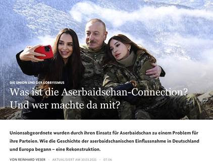 """FAZ: """"What is the Azerbaijan connection? And who took part?"""""""