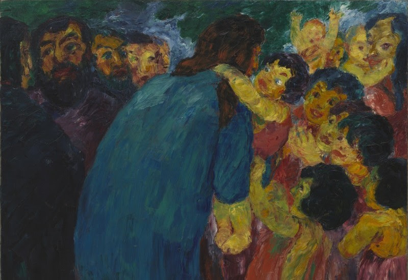 Emil Nolde Christ and the Children 1910 at the MoMA Lilly Foundation Funding Grants Insights into Religion News